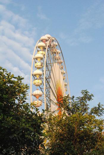 Amusement Park Amusement Park Ride Architecture Arts Culture And Entertainment Built Structure Day Ferris Wheel Low Angle View No People Outdoors Sky Tree