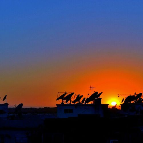 Agadir Maroc the sunset this evening edited with snapseed app (whitebalance)