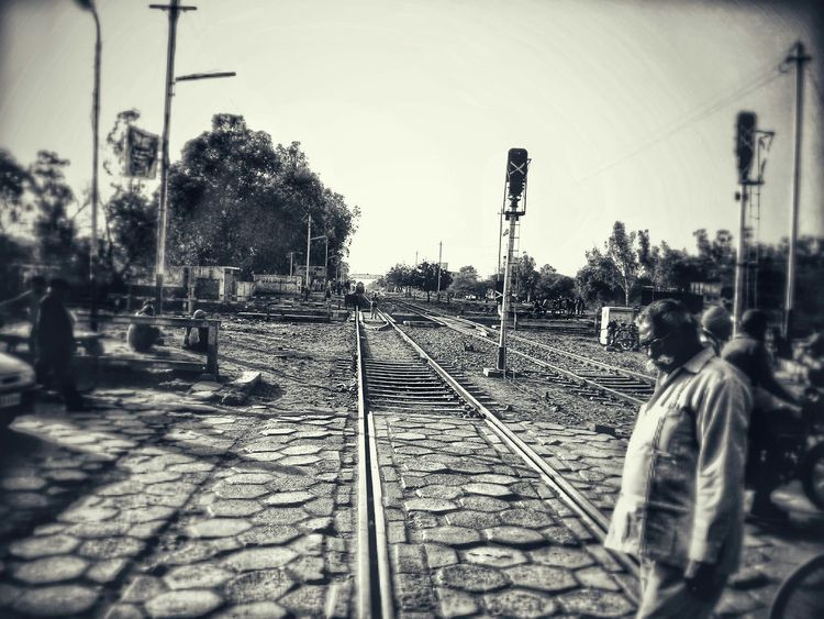 You can be on the right track and still get hit by a train..... Train Tracks Quotesandsayings Blackandwhite The Street Photographer - 2015 EyeEm Awards