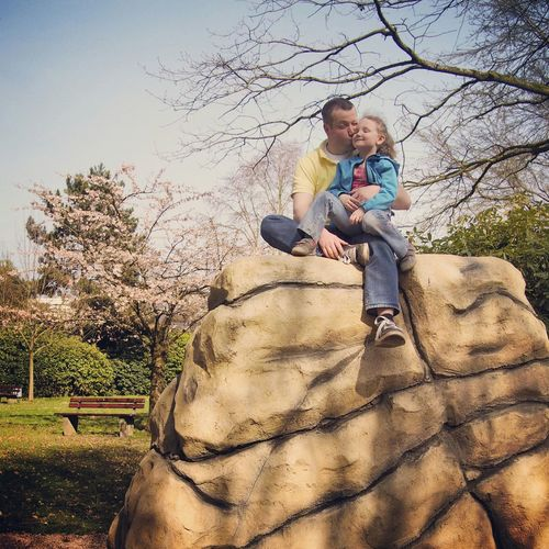 My picture of the day: Get up and be happy :-) - MAinLoveWithFreedom Kisses Little Girl after Climbing a Rock Having Fun Enjoying Life In The Sun RePicture Wealth Beauty In Ordinary Things - 10.04.2015