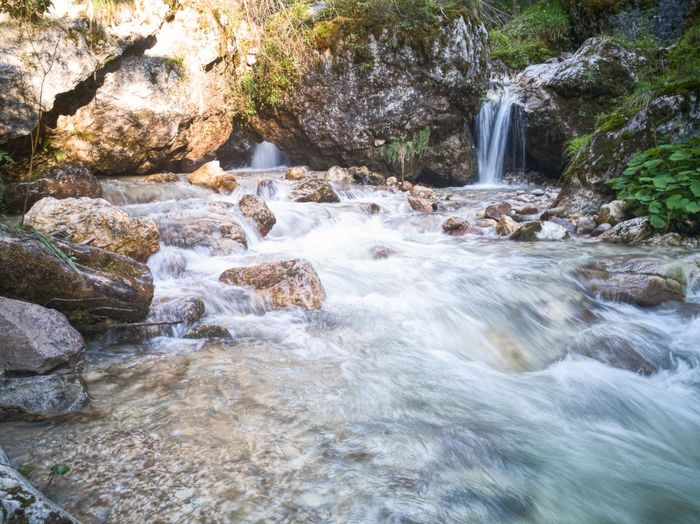 Nova Levante Bolzano Italy Mountain Dolomites Alps Water Waterfall Tree Forest Motion River Rock - Object Hot Spring Long Exposure Flowing Water Rock Geology Stream Rocky Mountains Canyon Physical Geography Eroded Rugged Stone Flowing Rock Formation Falling Water Stream - Flowing Water Rapid