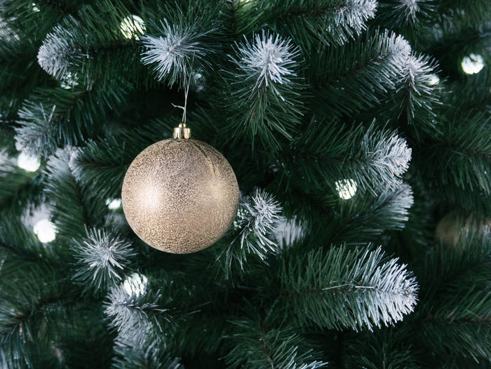 Celebration Christmas Christmas Decoration Christmas Ornament Christmas Tree Close-up Day Green Color Hanging No People Outdoors Tradition Tree