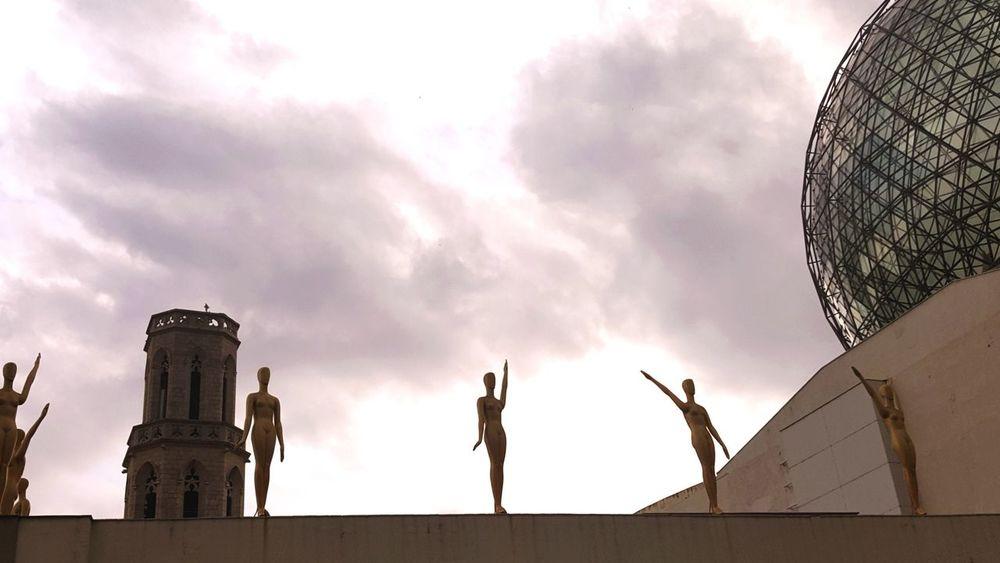 YMCA City Statue Sculpture Sky Architecture Cloud - Sky