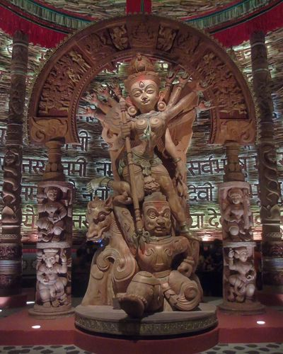 wooden Durga