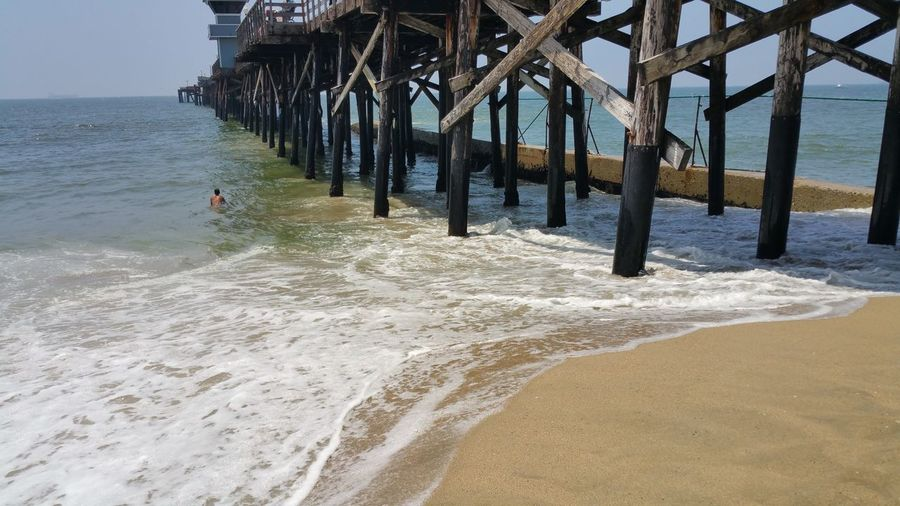 Nature Photography The Purist (no Edit, No Filter) The Pier This Week On Eyeem Patterns In Nature Check This Out Waves, Ocean, Nature Walking The Beach Depth Of Field The Elements Playing At The Beach Seal Beach, California Ocean, Waves, Nature Colors Shoreline Sand