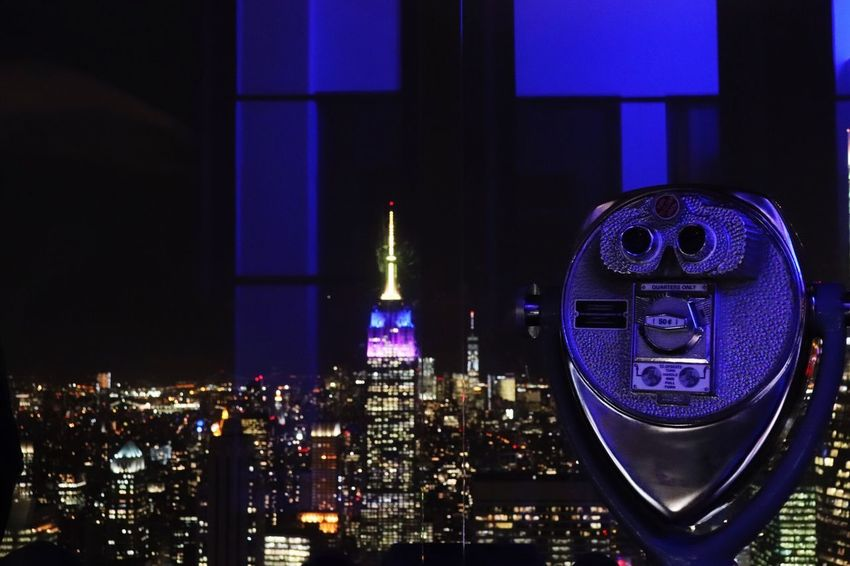 Architecture Cityscape Building Exterior Built Structure City Skyscraper Illuminated Night Modern No People Travel Destinations Outdoors Urban Skyline Coin-operated Binoculars Sky