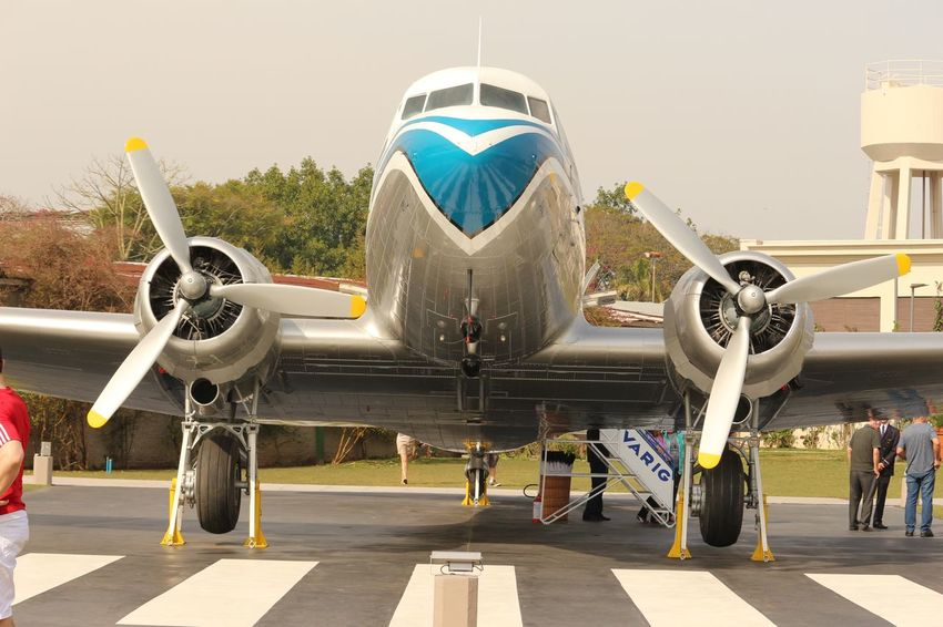 Shining again! Air Vehicle Aircraft Airplane DC 3 History Mode Of Transport Outdoors Restored Sky Transportation Travel