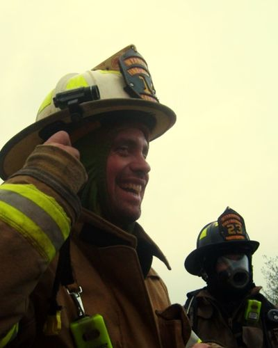 One Person Uniform Authority Only Men Cap Adult Firefighter Headshot Real People Occupation Low Angle View Men This Is Masculinity