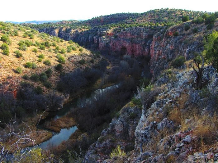 Upper Verde River, Arizona. Arizona Winter Beauty In Nature Canyon Cliff Day Forest Juniper Trees Landscape Limestone Nature No People Outdoors River Scenics Stream Tranquility Tree Verde River The Great Outdoors - 2018 EyeEm Awards