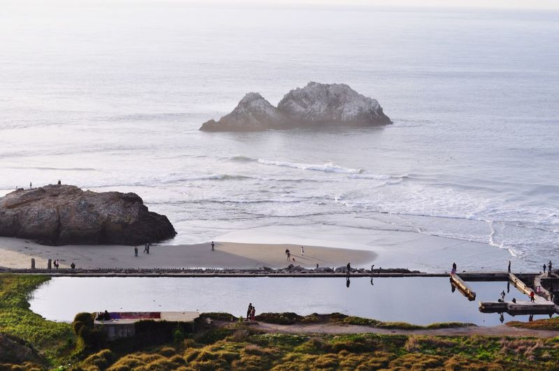 Sutro Baths San Francisco, California Travel California Sanfrancisco Sfo Sutrobaths Sutro Bath Ruins  EyeEm Selects Water Beach Land Sea Beauty In Nature Rock Rock - Object Horizon Over Water Outdoors Scenics - Nature