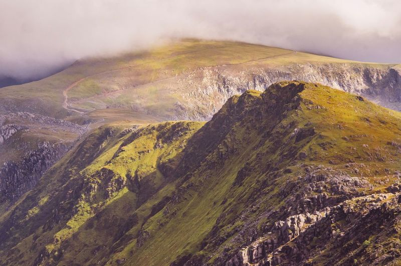 Mount snowdon under a shroud of clouds. Mountain Landscape Scenics Mountain Range Wales Snowdonia Mount Snowdon Welsh Mountains Great Britain Beauty In Nature EyeEm Gallery EyeEm Best Shots Landscape_Collection