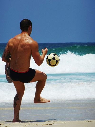 Sport Playing Ball Beach Activity Soccer Ball Motion Water Sand Sea Summer Match - Sport Sportsman Happiness Uniqueness Vacations Freedom Enjoyment Lifestyle Rio De Janeiro Soccer Player Beachvolley Sportsman Outdoors Vacation Time EyeEmNewHere