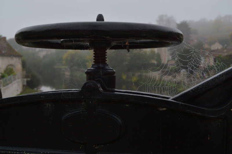 Close-up of wheel against blurred background