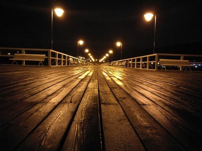 Molo Gdynia Orłowo Pier Lights Night No People