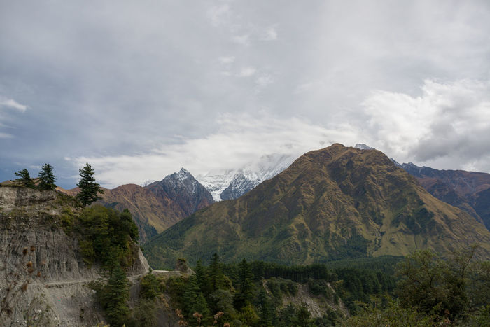 Nepal Mountains Muted Colors Himalayas Landscape Earthporn