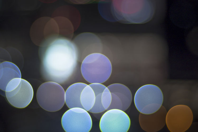 Bokeh light Circle background Defocused Illuminated Circle Abstract Lens Flare Pattern Geometric Shape Shape Glowing Night Light - Natural Phenomenon Lighting Equipment No People Light Design Multi Colored Backgrounds Electric Light Full Frame Close-up Abstract Backgrounds Electrical Equipment