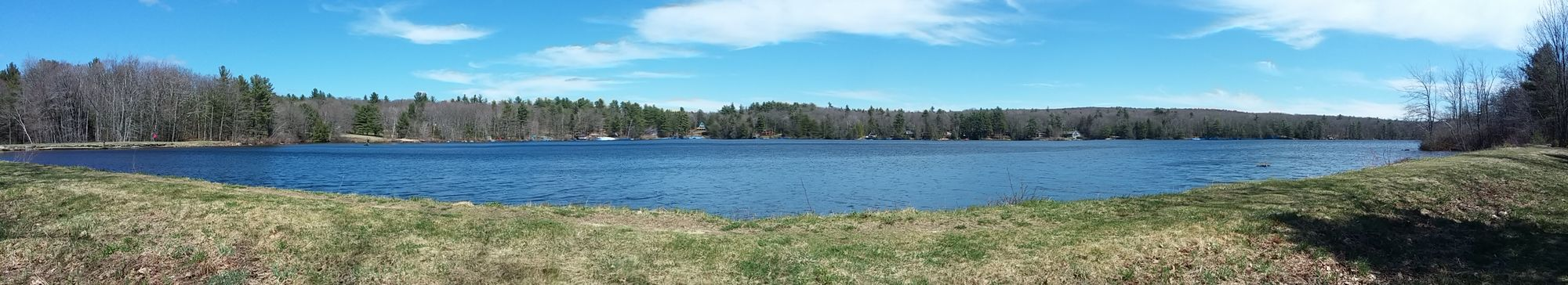 New Hampshire Fitzwilliam Pond Lovers Nature Panorama Scenic Walk Water Pond