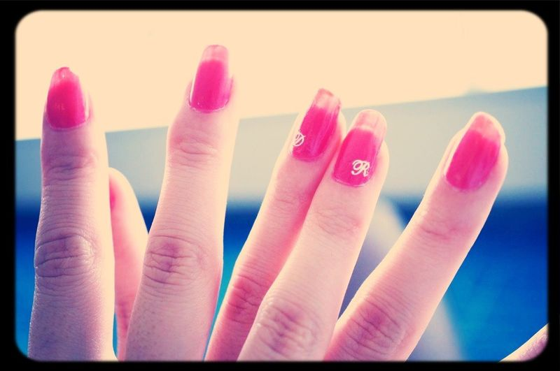 photo by my darling;) Nail Initial Love