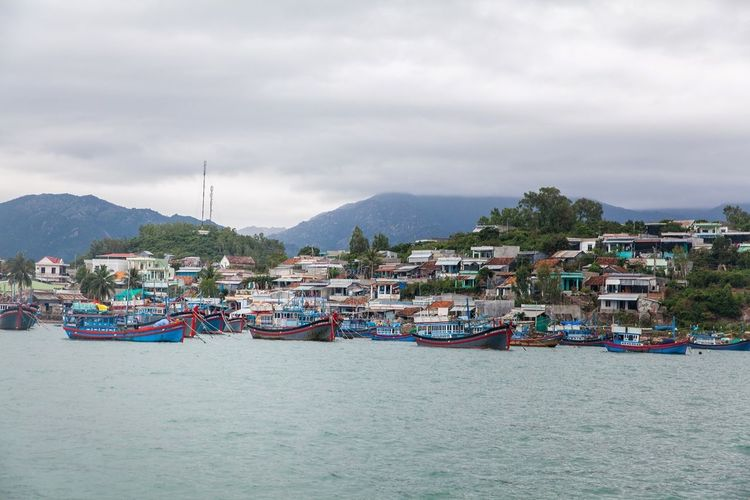 The Places I've Been Today Fishing Village фотографвьетнам Excursion Sea Fishingboat Boat Landscape Seatrip Tourism