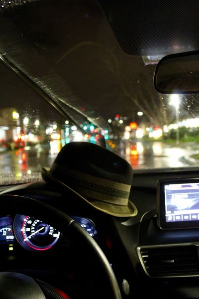 Check This Out Driving Fedora  Lights Rainy Days Windshield Wipers Car Eyem Eyemphotography