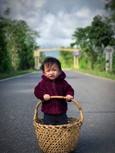 My precious gem Childhood Road Child One Person Real People Transportation Focus On Foreground Cute Innocence Portrait