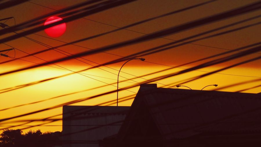 View from my window, some special evenings. Sky And City Sunset Cableicious Cables Sun Concepción, Chile.