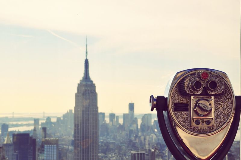 Niceview Citylife Cityscape City Cityscape Urban Skyline Coin-operated Binoculars Skyscraper Modern Sky Architecture Close-up Building Exterior Hand-held Telescope Observation Point Tower Lookout Tower Binoculars Tall - High