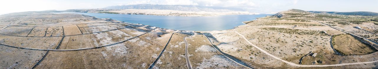 Pag landscape EyeEmNewHere Rocky Coastline Croatia DJI Mavic Pro Aerial View Mountain Beauty In Nature Tranquil Scene Scenics - Nature Tranquility Nature Day No People