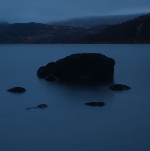 Long Exposure Blue Rock Rock - Object Wales Welsh Countryside Water Sea Sky Calm