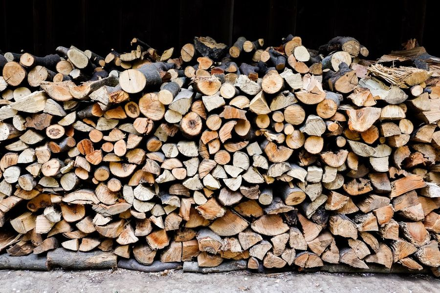 Firewood Wood Stack Firewood Log Timber Woodpile Forestry Industry Heap Pile Wood - Material Outdoors