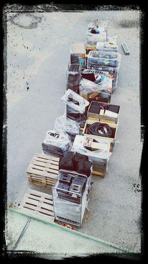 Applebox Cables Arri M18 Filmgear doing inventory at my job