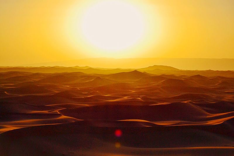 First Eyeem Photo Desert Sahara Sunset Nature Morocco