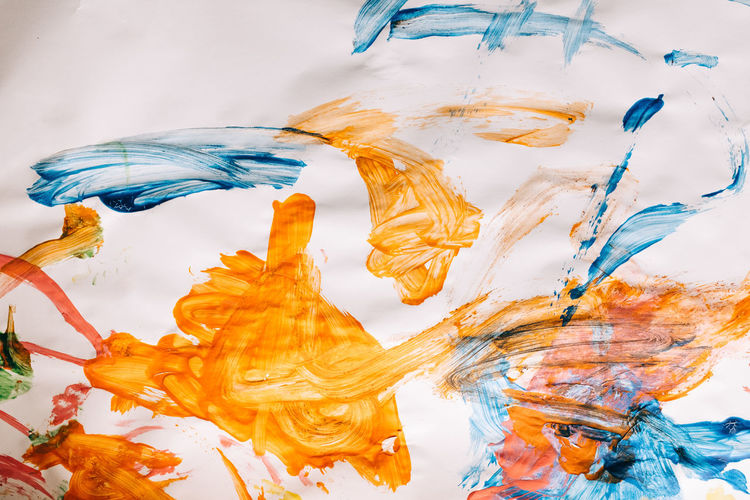 PLAYING WITH COLORS White Background Indoors  Multi Colored Studio Shot Colors Colorful Paint Art And Craft Creativity No People Close-up Water Motion Mixing Pattern Orange Color Sea Craft Abstract Brush Still Life Watercolor Paints