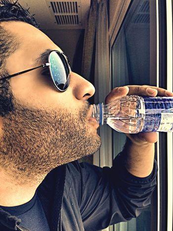 Water Drinking Rain Sunglasses