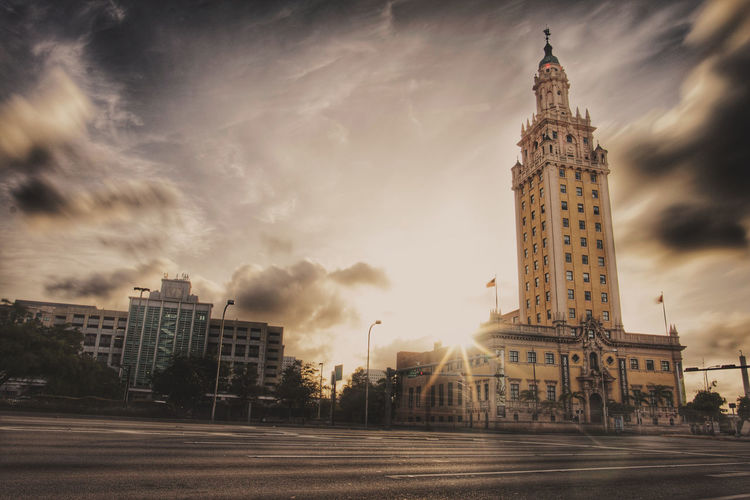 Historic Freedom Tower in Miami, Florida. This landmark building was originally the offices for a local newspaper, but later became the staging area for many Cuban regugees when Fidel Castro took over Cuba. Miami Freedom Tower Florida Downtown Miami Architecture Building First Eyeem Photo The Architect - 2018 EyeEm Awards My Best Travel Photo