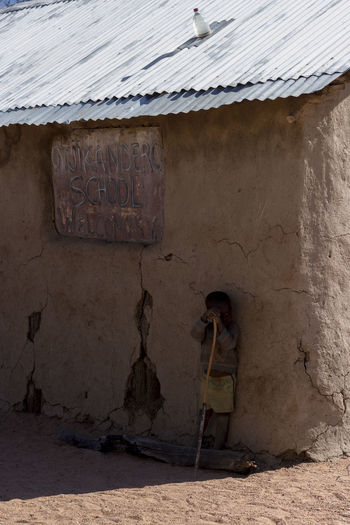 Himba Tribe Namibia NamibiaPhotography Architecture Building Exterior Built Structure Day Full Length Himba Himba Kid Kid One Person Outdoors People Real People School