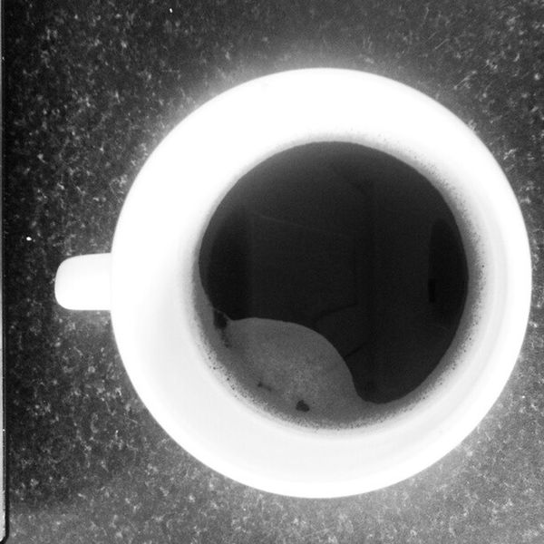 Morning Coffee Black White Mug Hot Weather Cold Sunshining Tgif :)