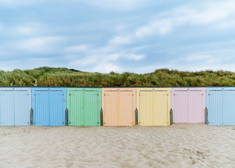 Minimalism Pastel Colorful Beach Nature Landscape Netherlands Summer Views