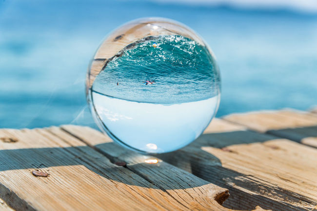A crystal ball at the adriatic sea Artistic CORFU ISLAND Corfu, Greece CorfuIsland Crystal Ball Crystal Sphere Experimental Glaskugel Mediterranean  Seascape Photography Summertime Waterscape Adriatic Sea Barbati Corfu Glas Ball Glasball Glaskugelfotografie Ipsos Korfu Relax Sea Seascape Seascapes Summer