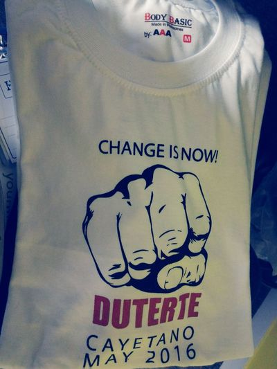 Change is NOW! Nationalelections DU30forPresident