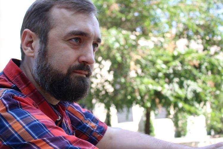 Thoughtful Bearded Man Looking Away
