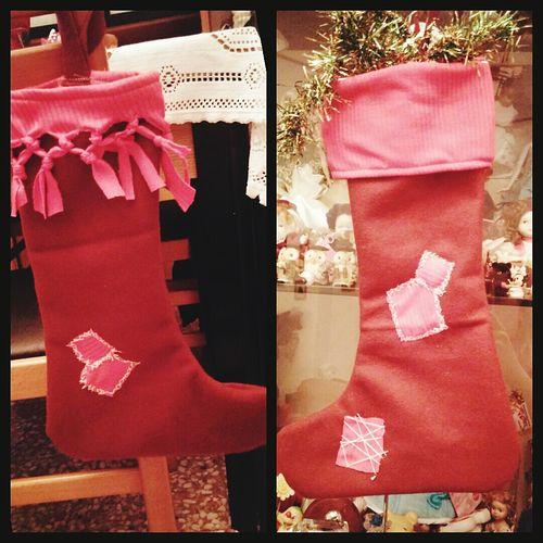 Rosso Calze Befana Cucito A Mano fatte da me :)