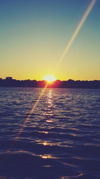 Sunset Lake Minneapolis Minnesota
