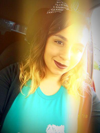 Shining like the sun 🌻☀️ Sunny Woman Sunshine One Person Purple Lipstick Sunflower