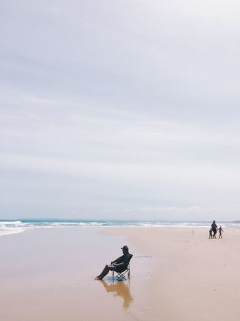 A day at the beach 🏝 Sea Beach Water Nature Real People Shore Scenics Horizon Over Water Men Sand Sky Beauty In Nature Leisure Activity Outdoors Full Length Two People Day Lifestyles