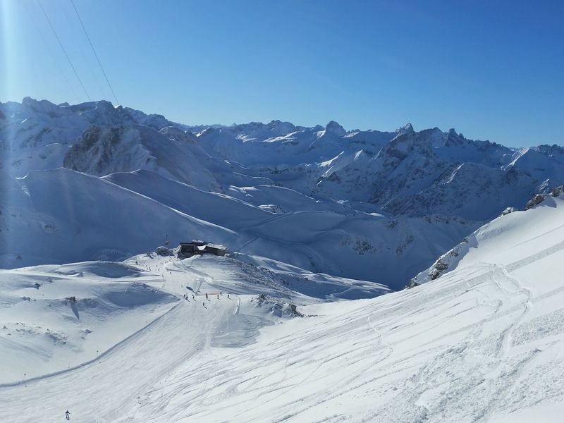 Beauty In Nature Cold Temperature Day Landscape Mountain Nebelhorn Oberstdorf Allgäu Outdoors Skiing Sky Snow Winter
