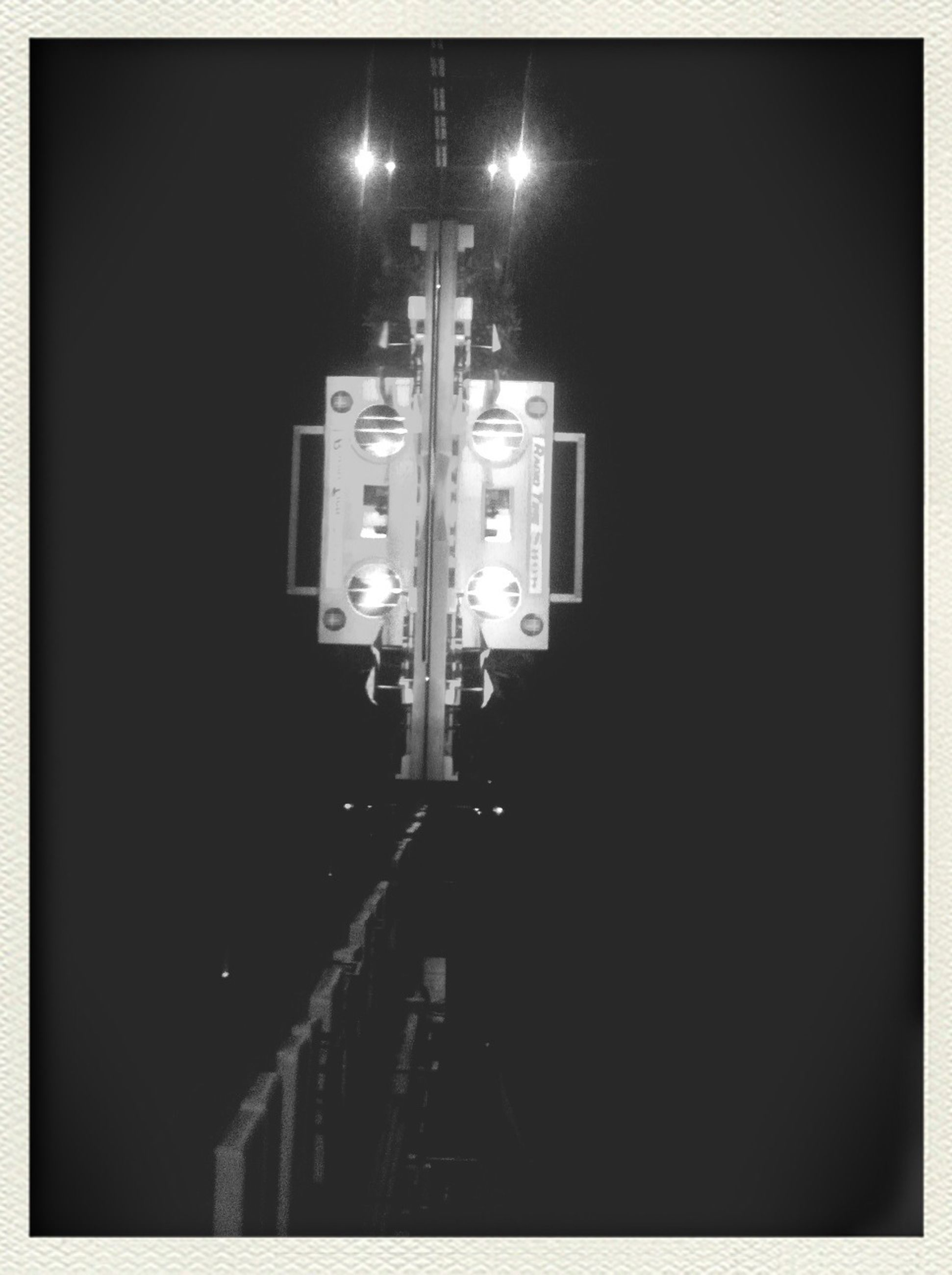 night, illuminated, street light, lighting equipment, transfer print, dark, architecture, built structure, transportation, auto post production filter, building exterior, street, the way forward, electricity, light - natural phenomenon, city, road, sky, electric light, outdoors
