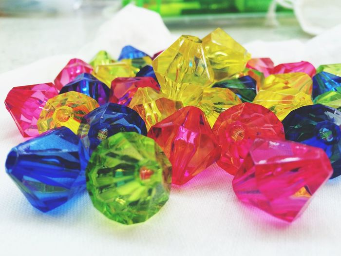 Gemstones In Biolab Beads Light And Shadow Colorful