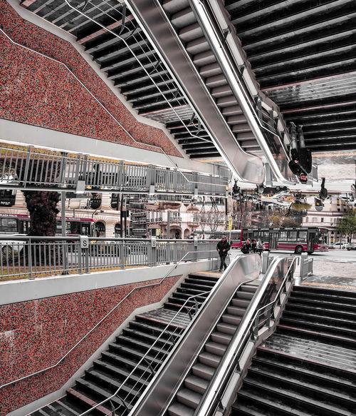 Eschers dream Inception Mirror Modern Reflection Stairs Symmetrical Symmetry Transportation Virtual Reality