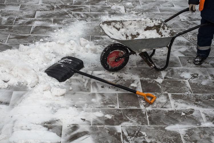 Лопата снег